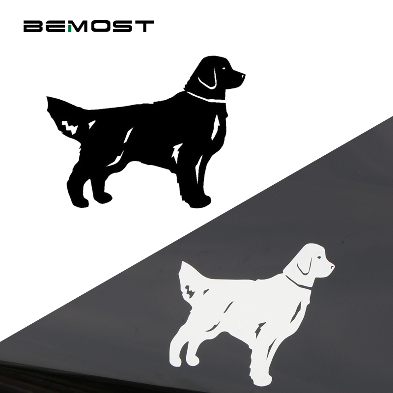 BEMOST Fashion Vinyl Waterproof Decoration Decal Car Styling Animal Golden Retriever Dog Car Stickers Auto Accessories 5Pcs/lot