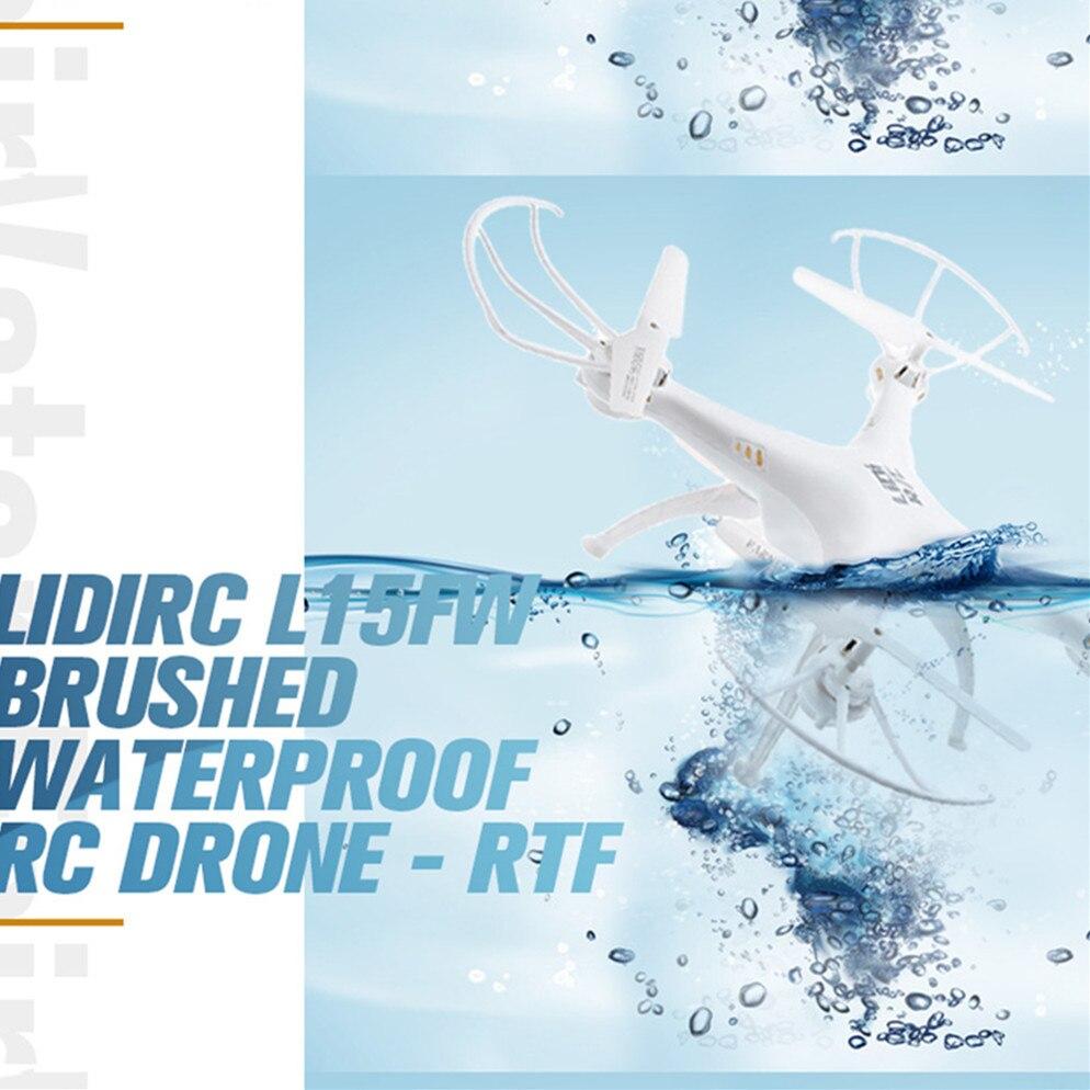 Waterproof Fairy RC Drone WiFi FPV 2.4G 4CH 6 Axis Gyro Waterproof Brushed 720P HD LED Light RC Quadcopter 100m Far LiDiRC L15FW