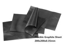 200x200x0.35mm Papel Grafite Flexível para Entre STB C e dissipador de calor ou shell, Folha de grafite frete grátis 2 pcs