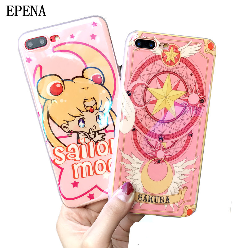 Ambitious Case For Iphone Xs Max Xr Cute Sailor Moon Magic Array Cartoon Soft Shell Of Mobile Phone Cases For Iphone 8 7 Plus 6 6s Plus Fitted Cases