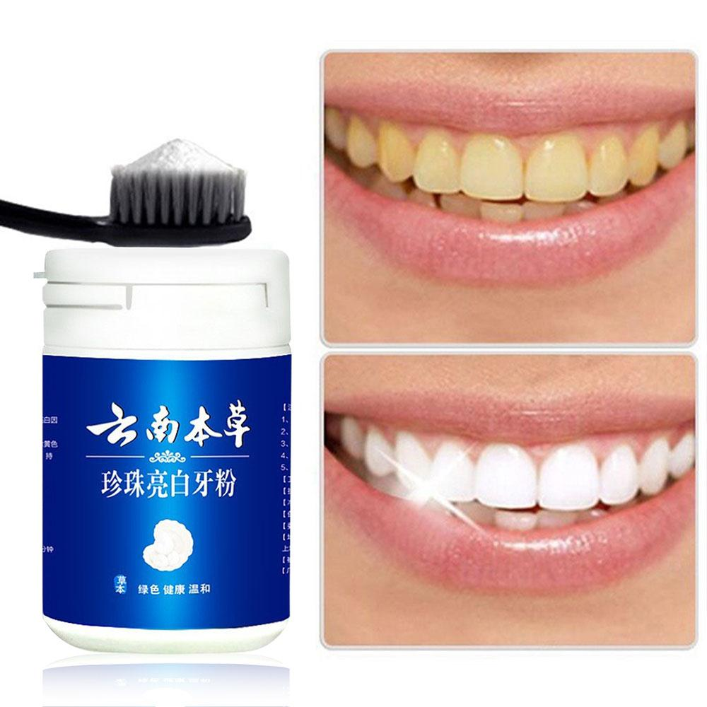 50g Peppermint Tooth Powder Pearl Tooth Powder Pearl Toothpaste Removes Bad Breath Gingival Care Removes Stains Oral Care image