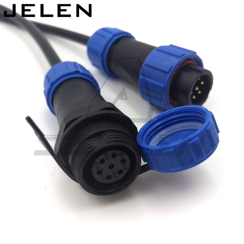 SP13 2pin 3pin 4pin 5pin 6pin 7pin 9pin waterproof Aviation Connector  plug and socket, Outdoor LED power supply connector 7 16 gx12 aviation circular connector 2 pin 3pin 4pin 5pin 6pin 7pin male plug