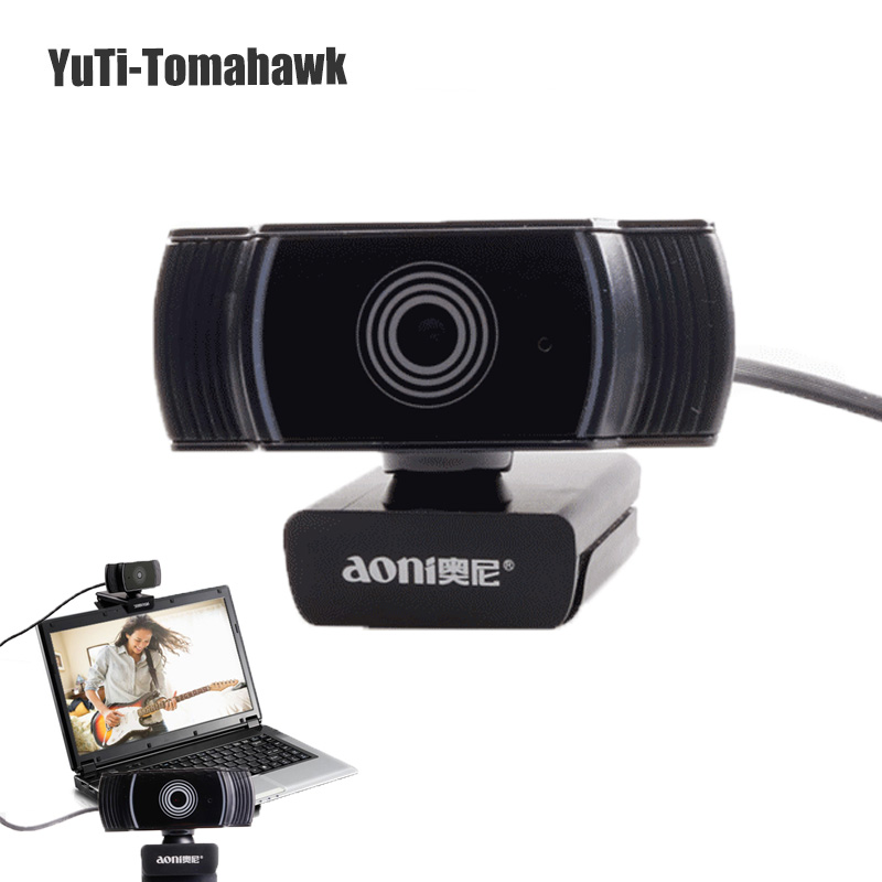 Aoni a10 webcam HD 1080 P 30FPS Auto Focus USB caméra Absorption sonore Microphone pour ordinateur portable PC