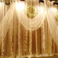 Waterproof 6M X 3M 600 LED Wedding Light Icicle Christmas Light LED String Fairy Light Bulb