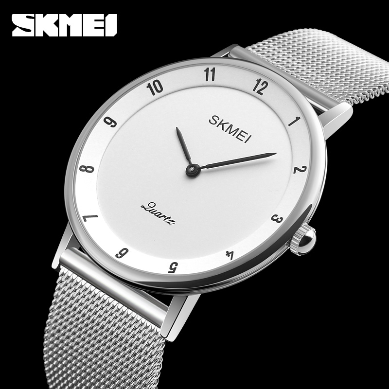 SKMEI Top Brand Clock Men Watch Ultra Thin Stainless Steel Quartz Watch Men Waterproof Casual Men Wrist Watch Relogio Masculino skmei 9058 men quartz watch page 5
