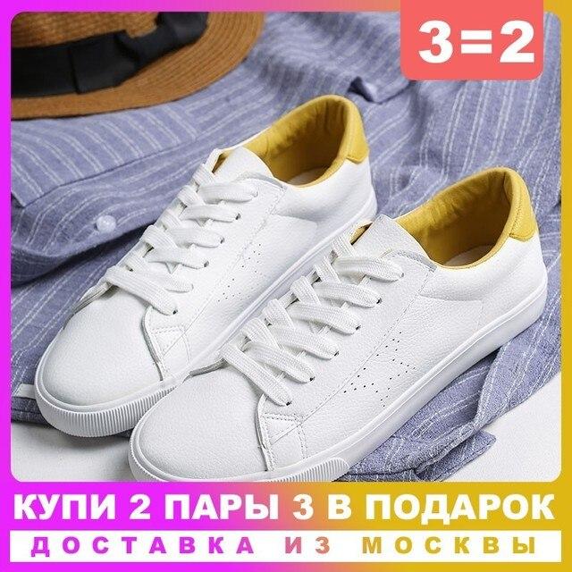 GOGC 2019 Giày Mềm Mại Trắng Giày nữ giày Nữ Mùa Hè Mùa Xuân Thoáng Khí Lỗ Da Nữ Giày Nữ Phẳng G786