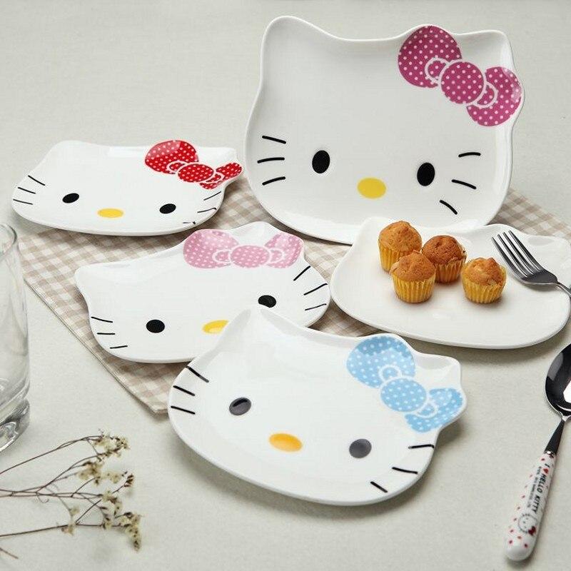 2 шт. Высокое качество для маленьких детей безопасного кормления посуда животных мультфильм блюда, подносы блюдце детская CutleryHig