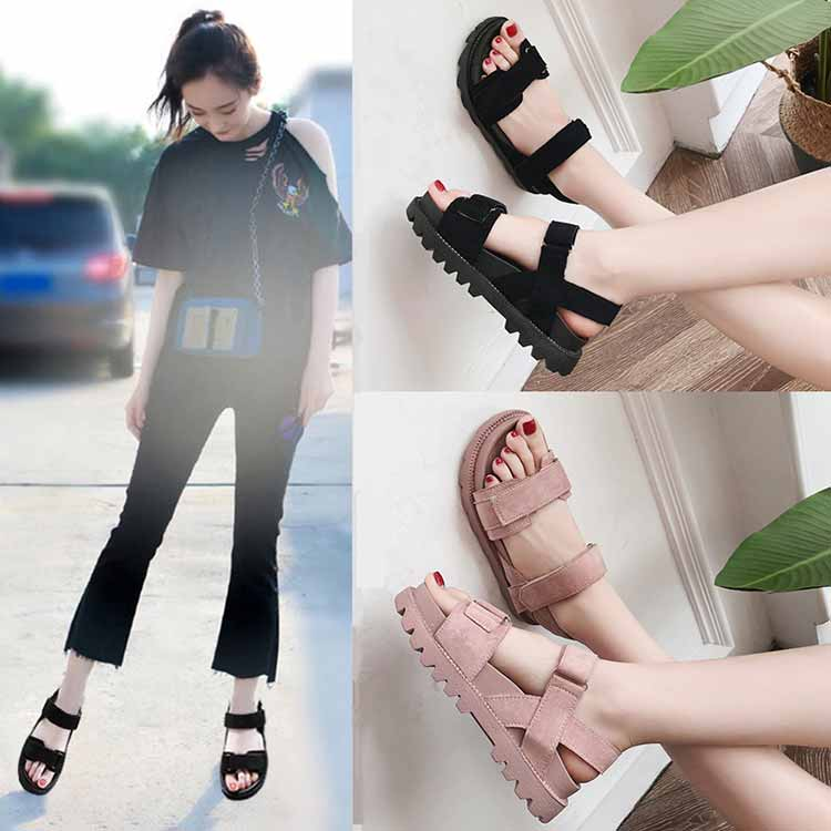 Women shoes adult solid sandals women 2019 fashion med heel height women sandals flat with casual shoes woman sandals female  (24)