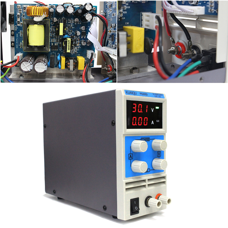 KUAIQU mini DC Power Supply,Switching Power Supply Display Digits Variable Adjustable 0-30V0-5A PS305D (2)