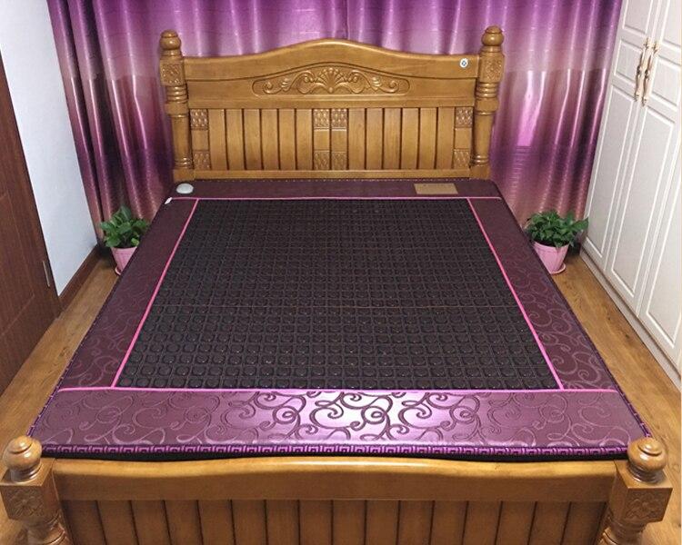Electric warm tourmaline stone massage cushion negative ion tourmaline electric bed massage cushion 3 Size For your Choice