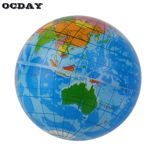 Mini blue world map foam earth globe stress relief bouncy ball atlas mini blue world map foam earth globe stress relief bouncy ball atlas geography toy th092 educational gumiabroncs Image collections