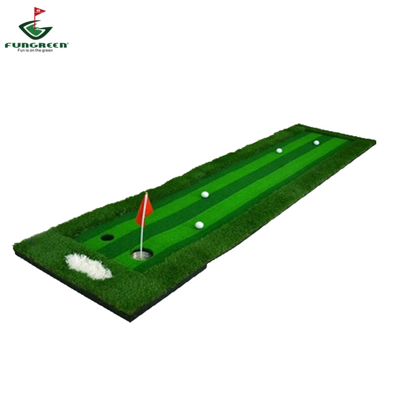 Golf Putting Green Indoor&Outdoor Residential Putting Mat Backyard Portable Golf Practice Putting Trainer Mat for Golfer-in Golf Training Aids from Sports & Entertainment