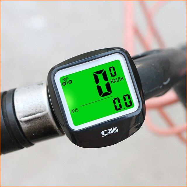 Sunding SD-568AE Bike Cycling Computer Computer Tachimetro Della Bicicletta Senza Fili Impermeabile Cronometro Contachilometri LCD Retroilluminato Nero 4