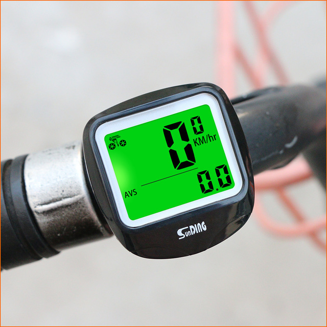 Sunding SD 568AE Bike Computer Cycling Computers Bicycle Speedometer Wireless Waterproof Stopwatch Odometer LCD Backlight Black