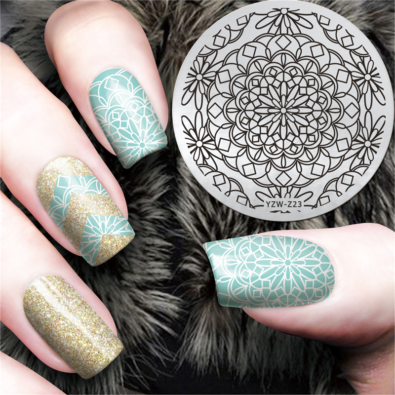 1 Piece New Mancharo Design Nail Art Image Stamp Stamping Plate