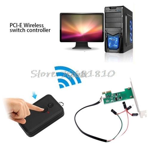 Mini PCI-e Desktop PC Remote Controller 20m Wireless Restart Switch Turn On/OFF Z09 Drop ship