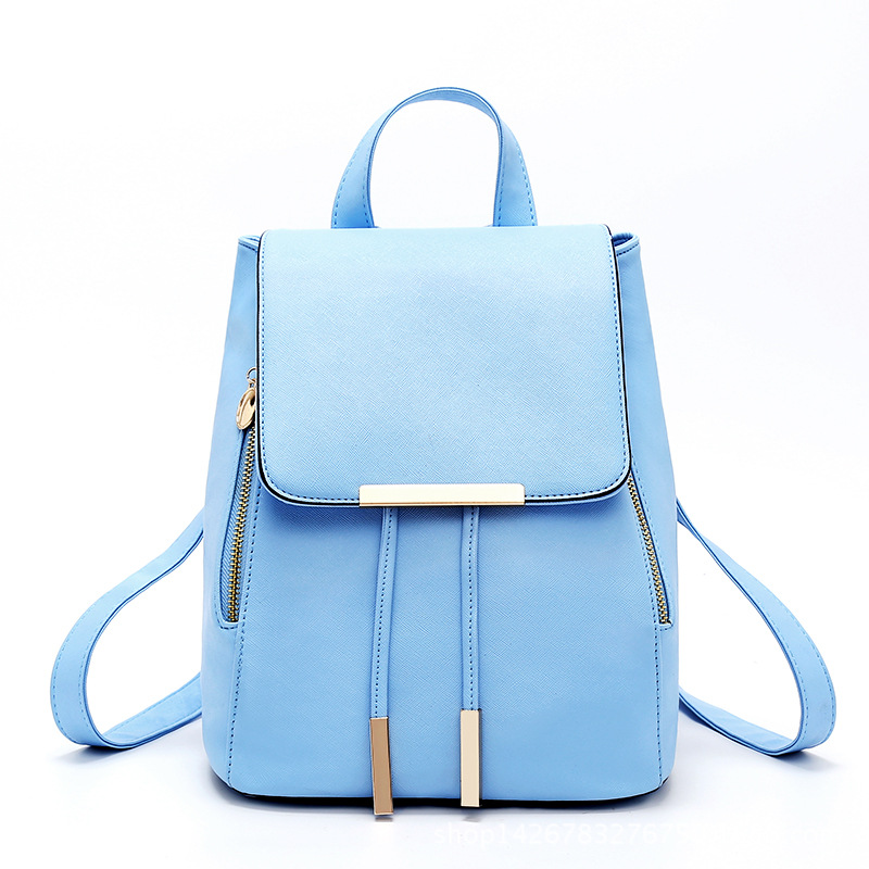 Fashion Shoulder Bag Leisure Student Schoolbag Rucksack PU Leather Women Girls Ladies Backpack Travel bag Mochila Feminina in Backpacks from Luggage Bags
