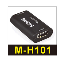 The HDMI repeater reproduces the audio and video signals of recombined signal source