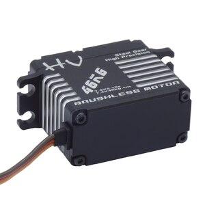 Image 5 - JX BLS HV7146MG 46KG מלא CNC אלומיניום דיגיטלי Brushless סטנדרטי עמיד למים סרוו עבור 50cc כדי 100cc מטוס