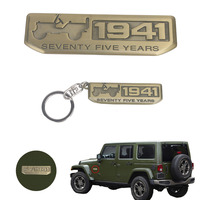 1941 Seventy Five Years Anniversary Key Ring KeyChains Emblem Badge Decal Sticker For Jeep Renegade Compass