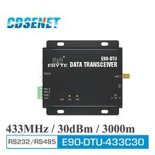 E90 DTU 433C30 433MHz Modbus 1W 30dBm Wireless Transceiver Modem RS232 RS485 RF Lange Palette Modul