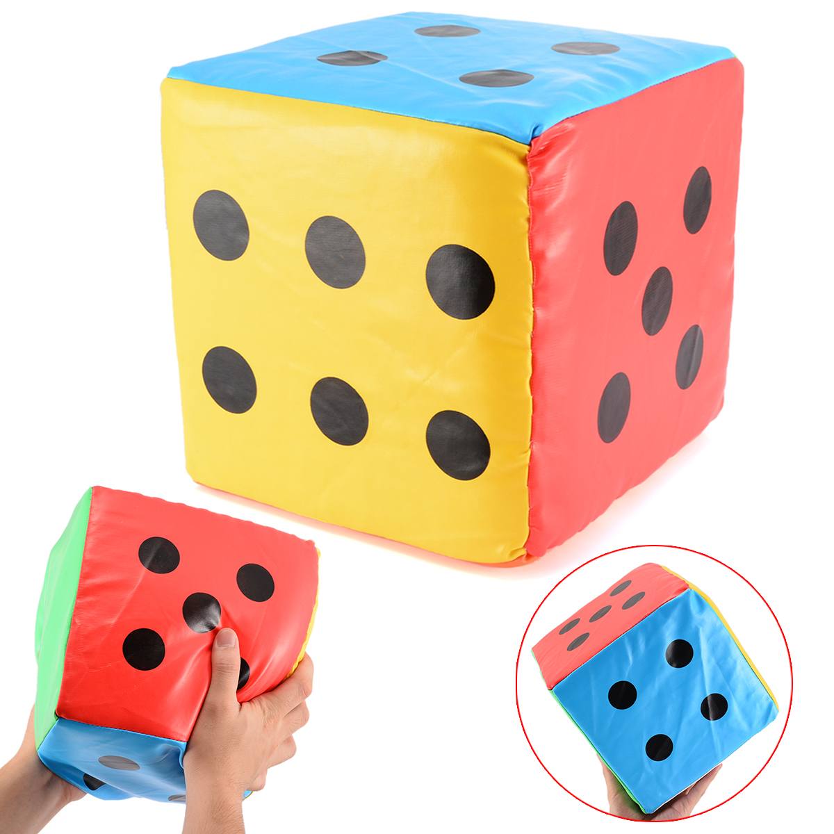 Super Big 20CM Dice Colorful Giant Sponge Faux Leather Dice Six Sided Game Toy Party Playing School Kids Funny Outdoor Game Dice