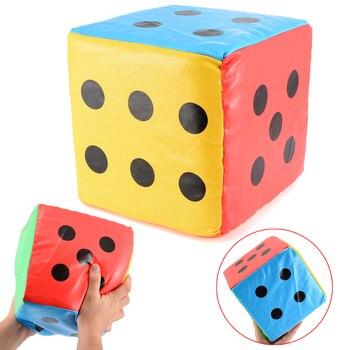 Super grande 20CM dados colorido gigante esponja imitación cuero dados seis lados juego fiesta jugando escuela niños divertido al aire libre juego dados