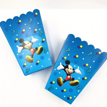 6pcs/sets Mickey mouse Popcorn Box Gift box Party Supplies Favor Accessory Birthday Party Supplies Kids Event&Party Supplies image