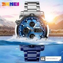 SKMEI 1389 Mens Quartz Analog Watch Luxury Fashion Sport Wristwatch Waterproof Stainless Male Watches Clock Relogio Masculino все цены