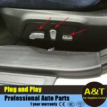 car styling chrome Seat adjustment button decorative frame for Outback 2015 2016 high quality abs Seat adjustment cover trim Car