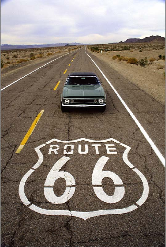 8x12ft Clouds Sky Mountain Hill Deserts Bush Route 66 Road
