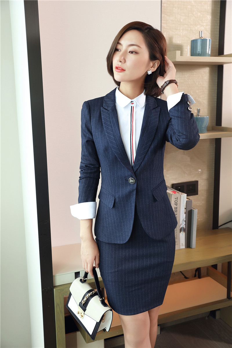 fall winter elegant striped blazers suits jackets and