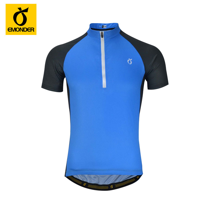 EMONDER Cycling Jersey Shirts Original Brand Solid Color Simple Style Men Summer Racing Bicycle Clothing Maillot Ciclismo