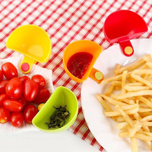 Home Useful 4pcs/set Assorted Salad Saucer Ketchup Jam Dip Clip Cup Bowl Saucer Tableware Kitchen Tool Colorful D0431