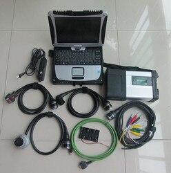 Skaner diagnostyczny mb star c5 do samochodu i ciężarówki benz z oprogramowaniem ssd z laptopem do wytrzymałego komputera panasonic cf-19