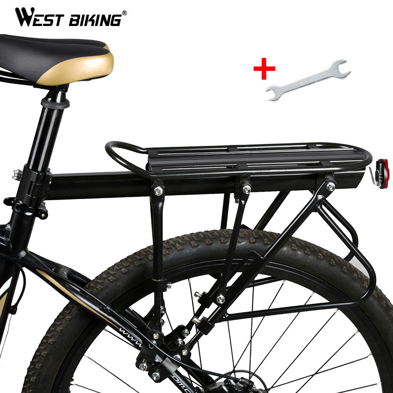 WEST BIKING Bike Carrier Rack Bike Luggage Stand Aluminum Alloy + Steel Cycling Cargo Racks 140 KG Load-bearing Bicycle Racks auxmart car roof rack cross bar for honda odyssey 2011 2017 top roof boxes 44 auto load cargo luggage carrier bike rack 132lbs