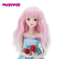 1/3 Bjd Wig High Temperature Long Fashion Wavy Wire Bjd Wig SD For BJD Doll Long Colourful Wavy BJD Super Hair Doll Wig