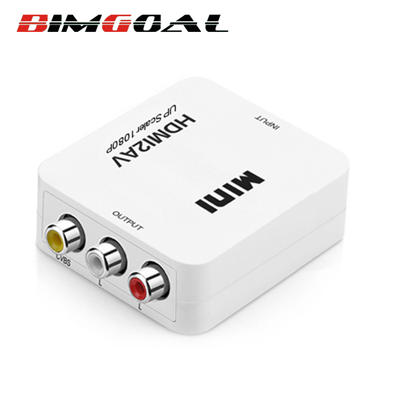 Mini HD Video Converter Box HDMI a RCA AV/CVSB L/R Video 1080 P HDMI2AV Supporto NTSC PAL Uscita HDMI AV adattatore