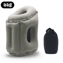 AAG Inflatable Travel Pillow Lightweight Portable Foldable Neck Chin Head Support Rest for Airplane Train Office