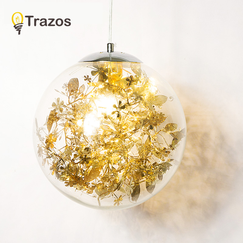 все цены на TRAZOS Modern Lamps Led Pendant Chandelier Lights Balls Transparent Crystal Globes Stairs Loft Light Fixtures LED Pendant Lamp онлайн