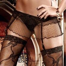 Skirt Garter Belt set with Thong pantie stockings