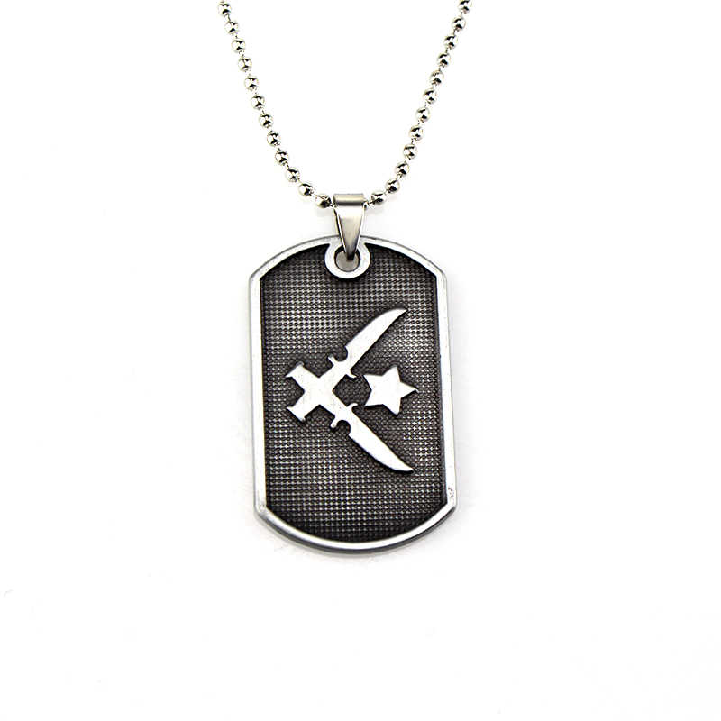 Jogo clássico Carta CSGO CSGO Tag colar de elite de Counter-Strike global offensive T/CT acampamento Colar Para O Homem jóias