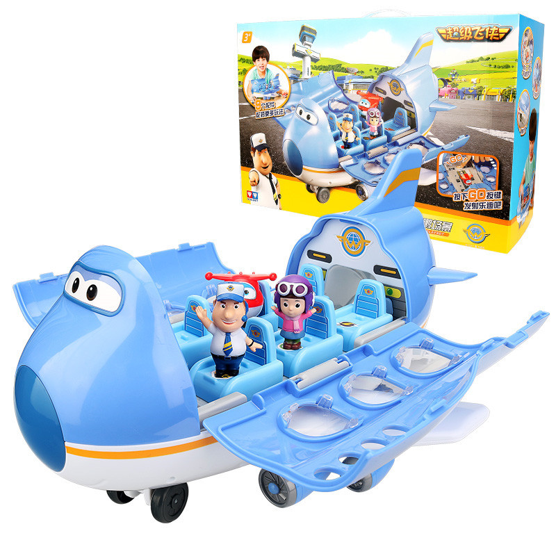 Offres spéciales Super Wings aéroport scène Center de contrôle tour avec avions figurines jouets Transformation jouets pour cadeaux de noël