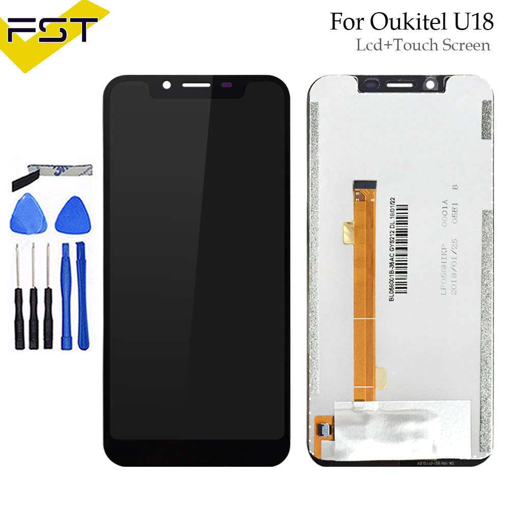5.85For Oukitel U18 LCD Display and Touch Screen Digitizer Assembly Phone Accessories For Oukitel U18 With Tools And Adhesive5.85For Oukitel U18 LCD Display and Touch Screen Digitizer Assembly Phone Accessories For Oukitel U18 With Tools And Adhesive