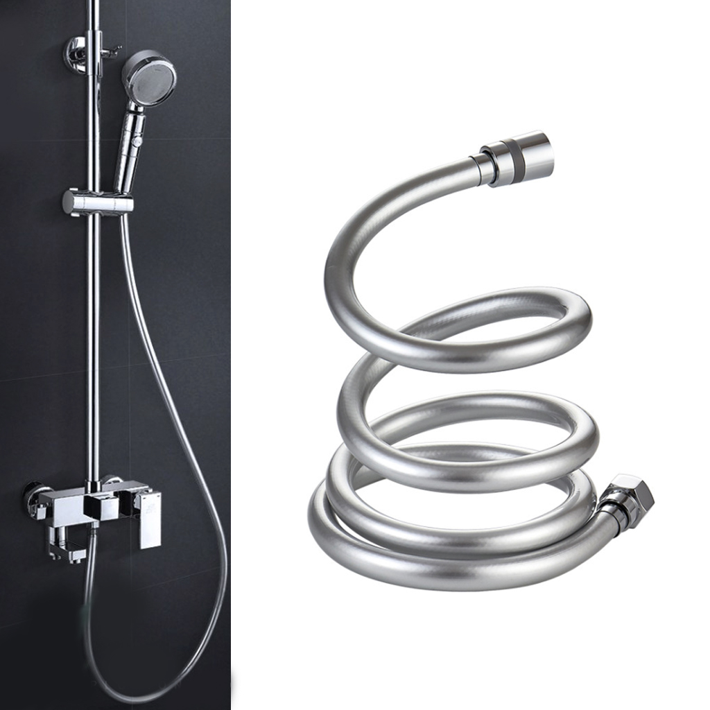 2019 PVC High Pressure 1.5m/2m Thickening Anti-winding Smooth Shower Hose For Bath Handheld Shower Head Flexible Shower Hose(China)