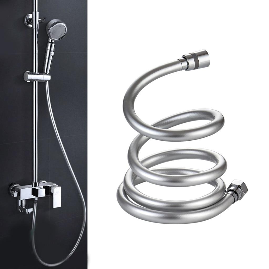 2020 PVC High Pressure 1.5m/2m Thickening Anti-winding Smooth Shower Hose For Bath Handheld Shower Head Flexible Shower Hose
