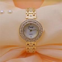цены CUSSI New Gold Women Watches Brand Luxury Ladies Dress Quartz Wristwatches Womens Bracelet Watches Clock Reloj Mujer Lover Gift