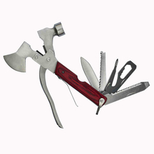 Outdoor Camping Survival Axe Hammer Knife Opener Pliers Wire Cutter Saw