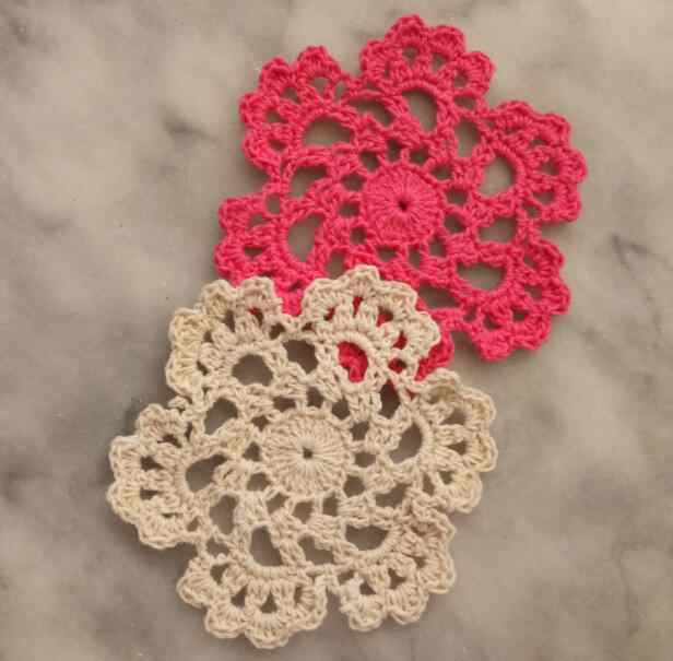 Top Handmade Round Lace Cotton Table Place Mat Crochet Coffee
