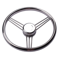 2017 New Arrival Boat Accessories Steering Wheel Stainless Steel 9 Spoke Knurling 13 1 2 For